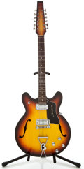 Musical Instruments:Electric Guitars, 1960's Baldwin Sunburst Semi-Hollow Body Electric Guitar, #0162....