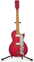 Musical Instruments:Electric Guitars, 1960's Kay Speed Demon Refinished Solid Body Electric Guitar....