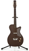 Musical Instruments:Electric Guitars, 1950's Silvertone U-1 Brown Solid Body Electric Guitar....