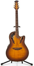 Musical Instruments:Acoustic Guitars, Recent Ovation Celebrity Deluxe Sunburst Acoustic Electric Guitar,#412782....