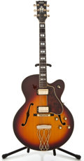 Musical Instruments:Electric Guitars, Early 1980's Yamaha AE1200S Sunburst Archtop Electric Guitar,#LOIK026....