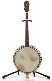 1900's S. S. Stewart Project Natural Tenor Banjo