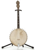 Musical Instruments:Banjos, Mandolins, & Ukes, 1900's Bacon & Day Super Banjo Natural Tenor Banjo, #8322....