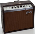 Musical Instruments:Amplifiers, PA, & Effects, 1960's Gibson Falcon Brown Guitar Amplifier, #774664....