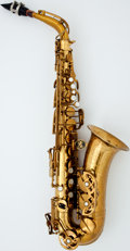 Musical Instruments:Horns & Wind Instruments, Late 1960's Buffet Super Dynaction Brass Alto Saxophone, #14773....
