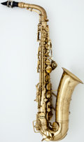 Musical Instruments:Horns & Wind Instruments, 1953 Conn Naked Lady Brass Alto Saxophone, #355004....