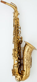 Musical Instruments:Horns & Wind Instruments, 1953 The Martin Brass Alto Saxophone, #180278....