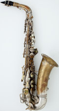 Musical Instruments:Horns & Wind Instruments, Vintage Conn Naked Lady Brass Alto Saxophone, #M256884....