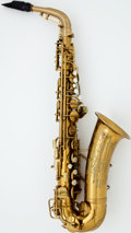 Musical Instruments:Horns & Wind Instruments, 1943 Conn Naked Lady Brass Alto Saxophone, #307271....