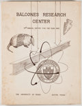 Books:First Editions, J. Neils Thompson [director]. Balcones Research Center: 14thAnnual Report for the Year 1963. Austin: University of ...
