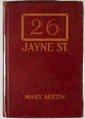 Books:First Editions, Mary Austin. No. 26 Jayne Street. Boston: Houghton Mifflin,1920. First edition. Octavo. Publisher's binding with mi...