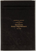 Books:First Editions, Biennial Report of the Commissioners of the Colorado StatePenitentiary. Canon City: [n. p.], 1902. First edition.Octav...