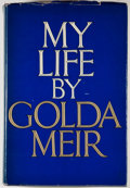 Books:Signed Editions, Golda Meir. SIGNED. My Life. New York: Putnam's, [1975]. First American edition. Signed by Meir on front free en...