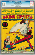 Platinum Age (1897-1937):Miscellaneous, King Comics #10 (David McKay Publications, 1937) CGC VF- 7.5 Creamto off-white pages....