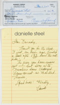 Books:Signed Editions, Danielle Steel. Autograph Letter Signed and on Author's Stationary. Single page and undated. Letter from Steel to Barnaby Co...