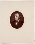 Antiques:Posters & Prints, Lot of 7 Antique Photographic Portraits of Eminent 19th Century Englishmen....