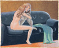 Original Comic Art:Paintings, Guy Colwell Woman on a Couch Painting Original Art(2011)....