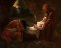 Paintings, After ANNE-LOUIS GIRODET DE ROUCY-TRIOSON (French, 1767-1824). Burial of Atala. Oil on canvas. 24 x 28-3/4 inches (61.0 ...