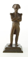 Paintings, PATINATED BRONZE FIGURE OF A FRENCH SOLDIER . Circa 1900. 6 inches high (15.2 cm). ...