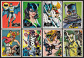 Non-Sport Cards:Sets, 1966 Topps Batman - Black Bat Complete Set (55). ...