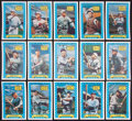 Baseball Cards:Sets, 1970 Rold Gold Pretzel Complete Set (15). ...