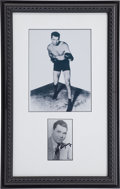 Boxing Collectibles:Autographs, Jack Dempsey Signed Display....