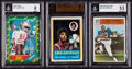 Football Cards:Lots, 1960's-1980's Sport Hall of Famer BVG-Graded Rookie Card Trio (3). ...