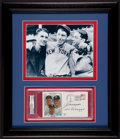 Baseball Collectibles:Photos, Joe, Vince and Dom DiMaggio Multi Signed First Day CoverDisplay....