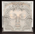 Glass, LALIQUE GLASS TABLE LUMINEUSE: MASQUE DE FEMME . France, 2006. 14 x 13-3/4 x 16-1/2 inches (35.6 x 34.9 x 41.9 cm). ...