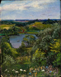 Fine Art - Painting, American:Modern  (1900 1949)  , WALTER I. COX (American, 1867-1930). Three Landscapes: LookingToward Canaan, Sea Breeze and Panoramic View of a Lake. O...(Total: 3 Items)
