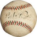 Autographs:Baseballs, 1929-31 Babe Ruth Single Signed Baseball....