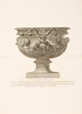 Decorative Prints, European:Prints, TWO FRAMED BLACK AND WHITE COPPER PLATE ENGRAVINGS OF URNS AFTERGIOVANNI BATTISTA PIRANESI (Italian, 1720-1778). Ci... (Total: 2Items)