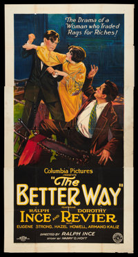 "The Better Way (Columbia, 1926). Three Sheet (41"" X 81""). Drama"