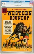 Silver Age (1956-1969):Western, Dell Giant Comics Western Roundup #24 (Dell, 1958) CGC NM- 9.2 Off-white pages....