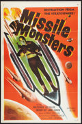 "Movie Posters:Science Fiction, Missile Monsters (Republic, 1958). One Sheet (27"" X 41"") Flat Folded. Science Fiction.. ..."