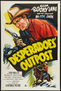 "Movie Posters:Western, Desperadoes' Outpost (Republic, 1952). One Sheet (27"" X 41""). Western.. ..."