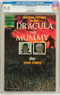 Silver Age (1956-1969):Horror, Universal Pictures Presents Dracula and The Mummy #nn (Dell, 1963)CGC VF/NM 9.0 Off-white to white pages....