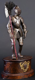 Militaria:Armor, Fine Miniature Suit of Armor in the 16th Century German Style by Edward Granger, Paris....
