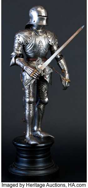 Militaria Armor Fine Miniature Suit Of In The German Gothic Style