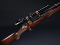 Long Guns:Bolt Action, **Cased .416 Rigby Bolt Action Magazine Rifle with TelescopicSight....