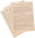 Military & Patriotic:WWII, Rare Original WWII Typed Copy of Autopsy of Italian Dictator Benito Mussolini....