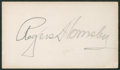 Baseball Collectibles:Others, Rogers Hornsby Signed Business Card....