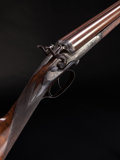 Shotgun:Double Barrel, Cased 20 Gauge E. M. Reilly Sidelever Hammer Double Barrel Shotgun....
