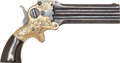 Handguns, Engraved Marston Three-Barrel Pocket Pistol....