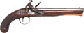 Handguns:Muzzle loading, English Flintlock Horse Pistol by Thomas Wheeler....