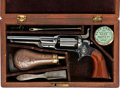 Handguns:Single Action Revolver, Exceptional Cased Colt Model 5A Root Pocket Percussion Revolver with Accessories....