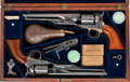 Handguns, Rare Double-Cased Colt Model 1861 Navy Percussion Revolvers with Accessories.... (Total: 2 Items)