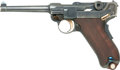 Handguns:Semiautomatic Pistol, *1900 Commercial Swiss Luger Semiautomatic Pistol with Leather Holster and Harness....