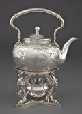 Silver Holloware, American:Hot Water Kettles , A TIFFANY & CO. HOT WATER KETTLE ON STAND . Tiffany & Co.,New York, New York, circa 1856. Marks: TIFFANY & CO.,TIFFANY, ... (Total: 2 Items)