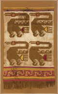 Antiques:Antiquities, Chimu Panel Depicting Four Abstract Cormorants...